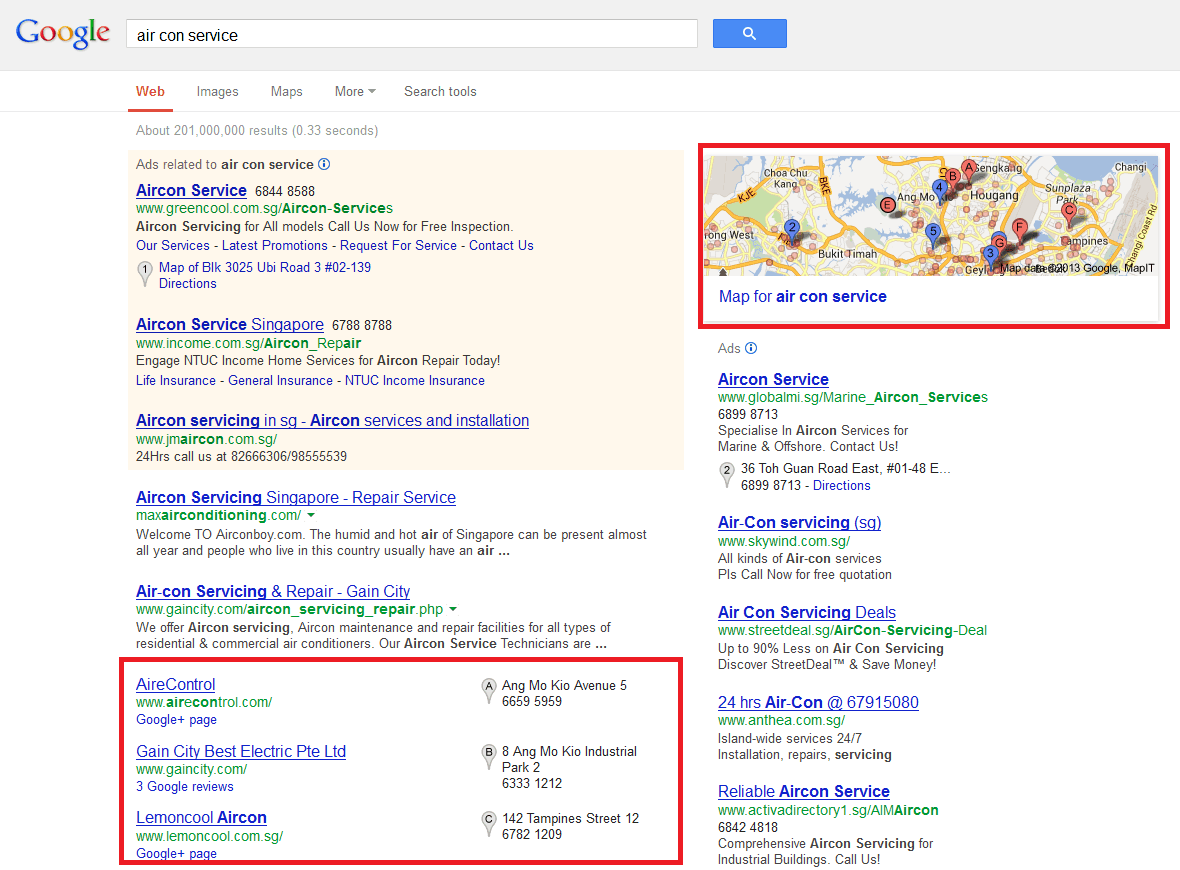 Google Places Listing On The SERPs